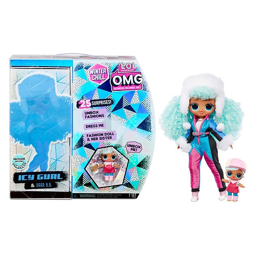 L.O.L. Surprise! LOL OMG O.M.G. Winter Chill Icy Gurl girl & Brrr B.B. Doll with 25 Surprises