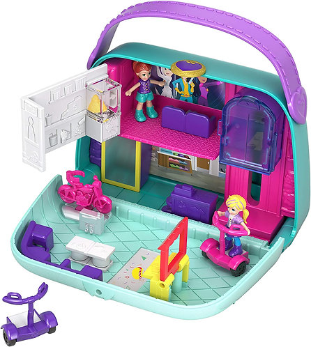 Polly Pocket World Mini Mall Escape Compact Playset