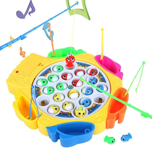 fishing game musical toddler board games rotating fish toy