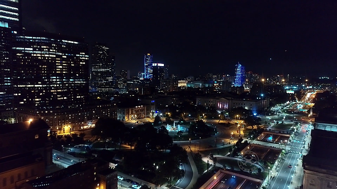 Philadelphia By Night   4K Drone Footage