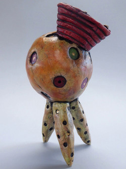 Tripod Head with Red Hat
