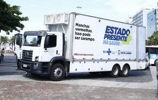 Sarampo: vacinação móvel estaciona em quatro cidades do RJ