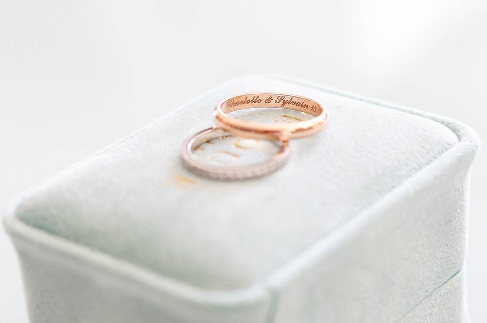 Alliance du Mariage de Charlotte et Sylvain, célébré en Septembre 2019 en Provence