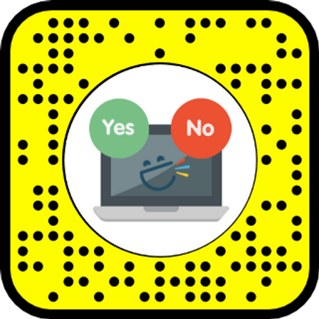 Snap Camera / Snapchat Lens for Yes & No (student)