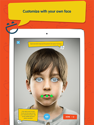 Boy, sample page of innervoice app