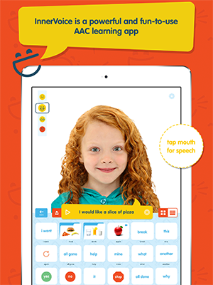 picture of red headed girl, innervoice app sample page