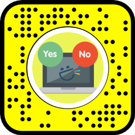 Snap Camera / Snapchat Lens for Yes & No (educator)