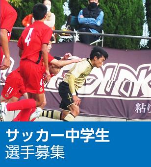サッカー中学生選手募集