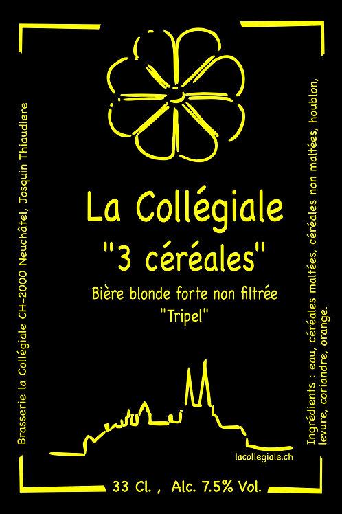 Bière artisanale la 3 Céréale | Brasserie la Collégiale | Neuchâtel