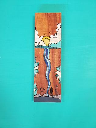WATCHING WATER-FALL (koa wood)