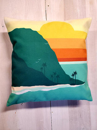 Waipio Valley Throw Pillow
