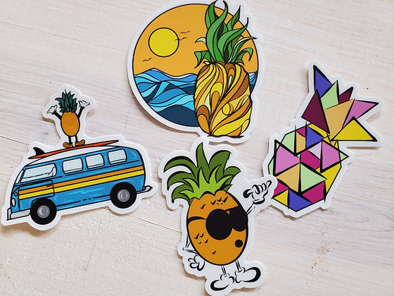 PINEAPPLE VIBES STICKER PACK