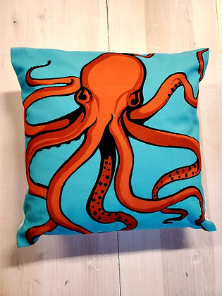 Red TakoThrow Pillow