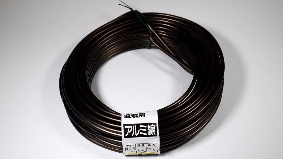 Aluminio negro japonés 4.5mm