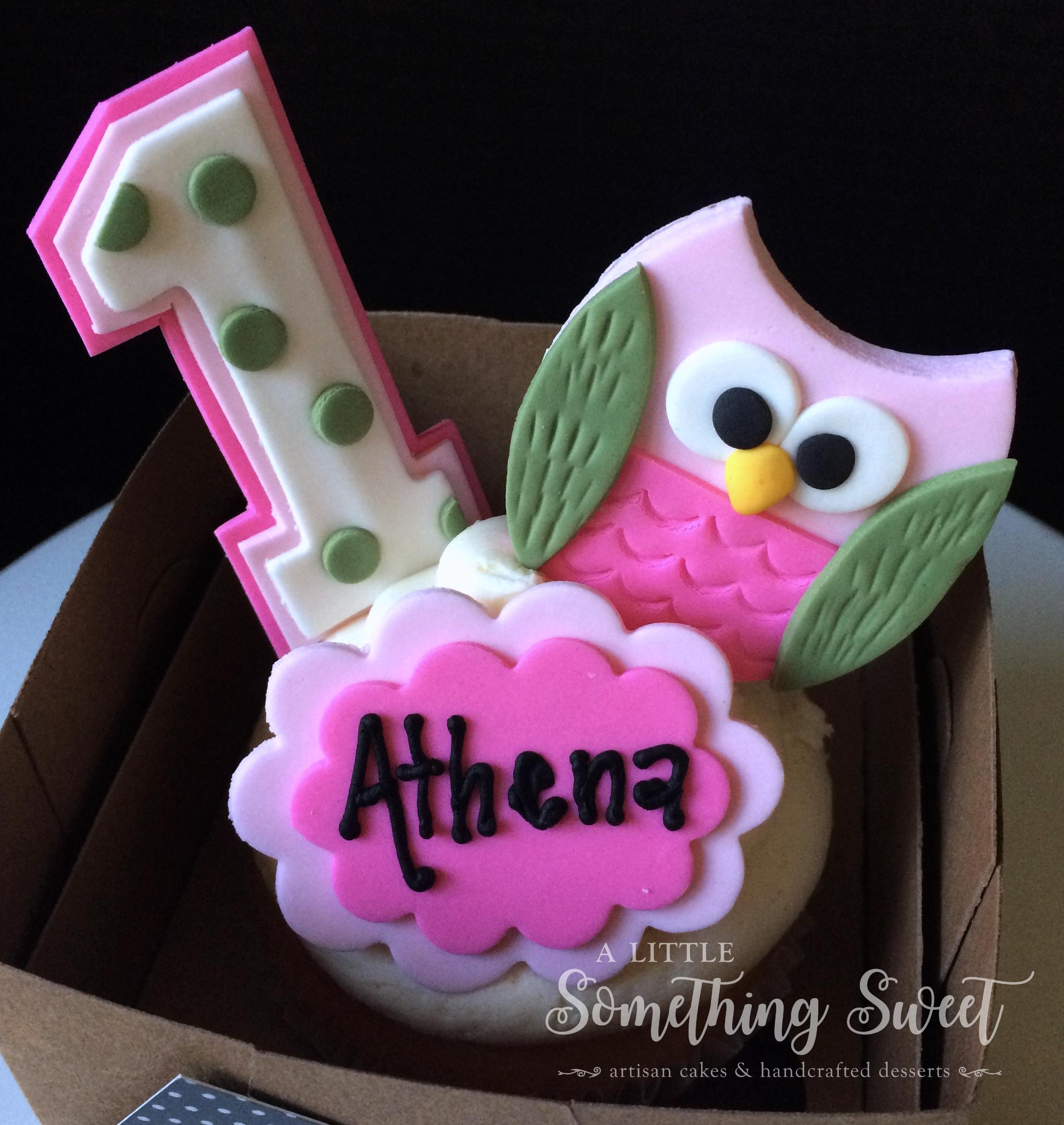 Owl (jumbo cupcake)