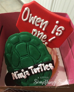 Ninja Turtles (jumbo cupcake)