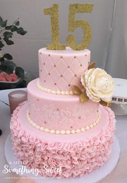 Pink & Gold Ruffle