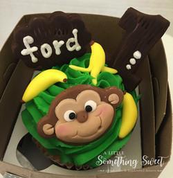 Monkey (jumbo cupcake)