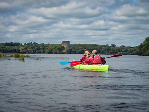 Kayaking to Clough Oughter Castle