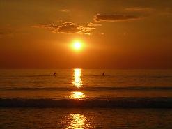 medium-Sunset Surfers Strandhill Co Slig