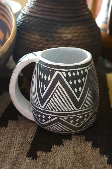 Anasazi Mesa Verde Black-on-White Mug