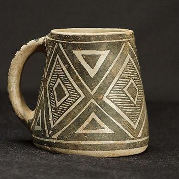 Black-on-White Mesa Verde Mug