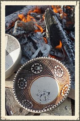 Anasazi Black-on-White Firing Pottery