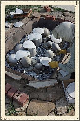 Cherylene Caver Loading Pottery Kiln