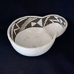 Black-on-White Pottery