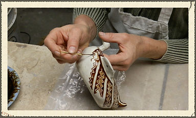 Yucca Brush Painting Pottery Bee Plant