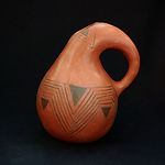 Black-on-Red Gourd Pitcher