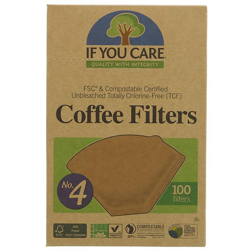 IF YOU CARE COFFEE FILTERS No.4 - LARGE
