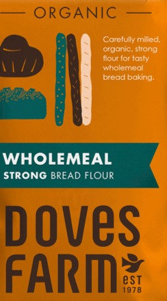 DOVES ORGANIC WHOLEMEAL BREAD FLOUR