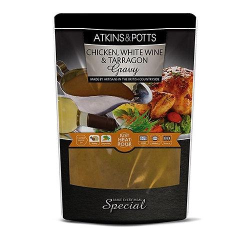 ATKINS & POTTS CHICKEN GRAVY WITH WHITE WINE & TARRAGON