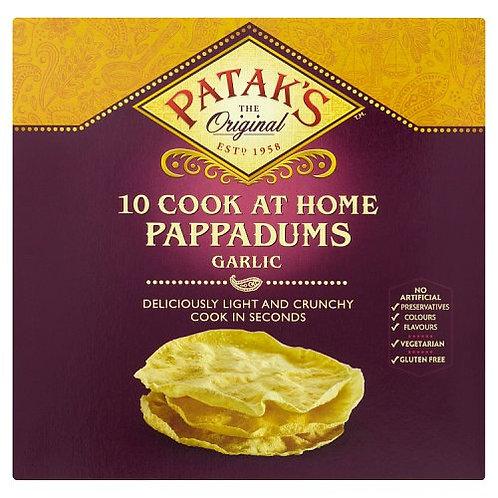 PATAKS 10 GARLIC PAPPADUMS