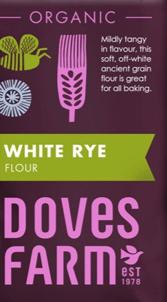 DOVES ORGANIC WHITE RYE FLOUR