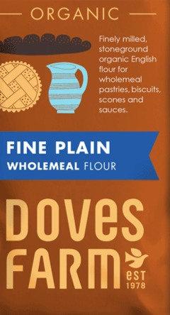 DOVES FINE PLAIN WHOLEMEAL FLOUR