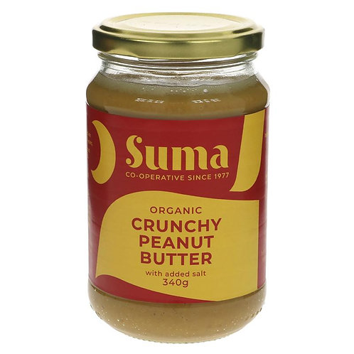 SUMA ORGANIC CRUNCHY PEANUT BUTTER - WITH SALT