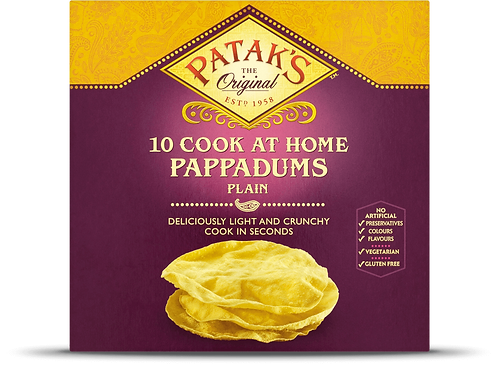 PATAKS 10 PLAIN PAPPADUMS