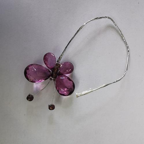Purple Butterfly On Wire