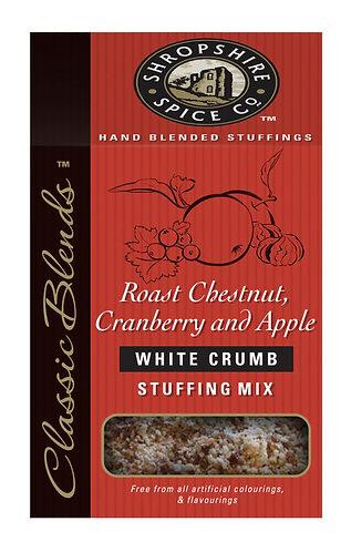 SHROPSHIRE ROAST CHESTNUT, CRANBERRY & APPLE WHITE STUFFING