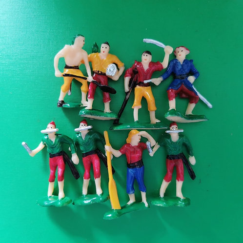 Pirate Figures - Assorted - 8 Pack