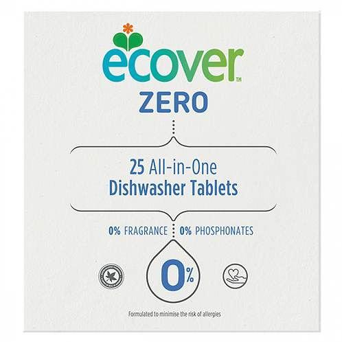 ECOVER ZERO ALL IN ONE DISHWASHER TABLETS 25 PACK