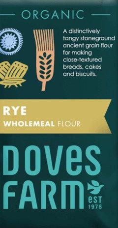 DOVES ORGANIC WHOLEMEAL RYE FLOUR