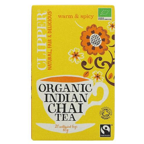 CLIPPER ORGANIC INDIAN CHAI TEA BAGS