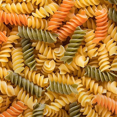TRI-COLOURED PASTA TWISTS