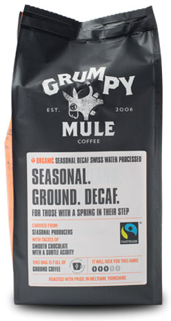 GRUMPY MULE ORGANIC SEASONAL GROUND DECAF