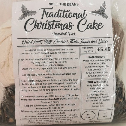 TRADITIONAL CHRISTMAS CAKE INGREDIENT PACK
