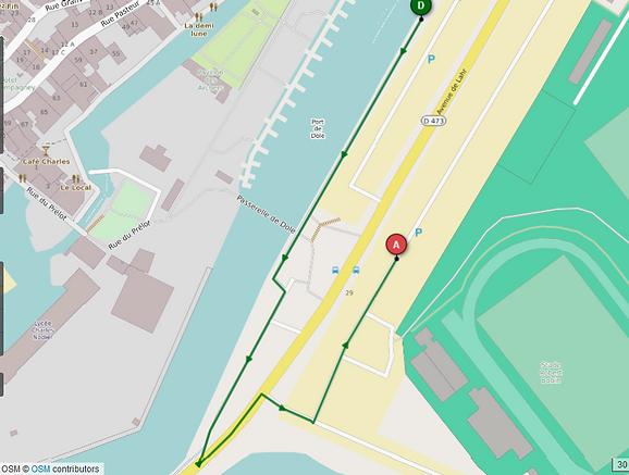 Parcours course à pied enfants 8/11ans Xefi triathlon Dole