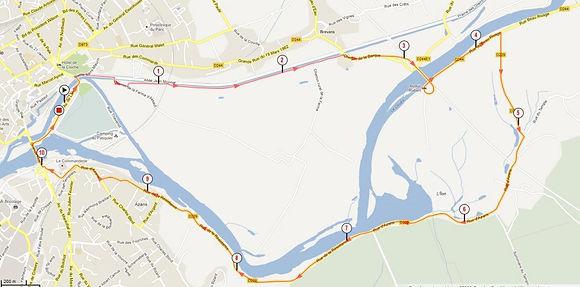 Parcours Cyclisme adultes S Xefi triathlon Dole